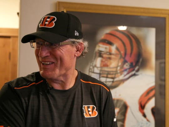 Former Cincinnati Bengals defensive tackle Tim Krumrie,