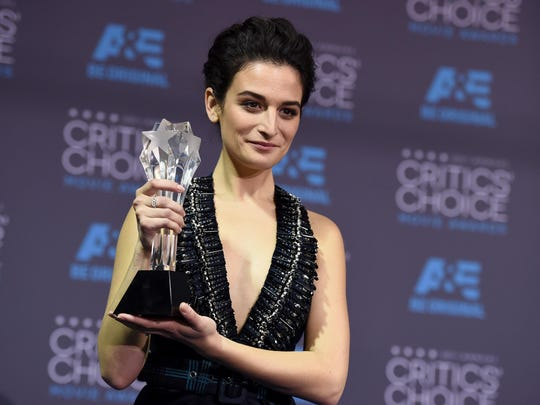 """Jenny Slate poses in the press room with the best actress in a comedy award for """"Obvious Child"""" at the 20th annual Critics' Choice Movie Awards at the Hollywood Palladium on Thursday, Jan. 15, 2015, in Los Angeles. She was in Palm Springs this past weekend."""