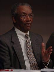 Dr. Roland Porter speaks during a 2009 health care