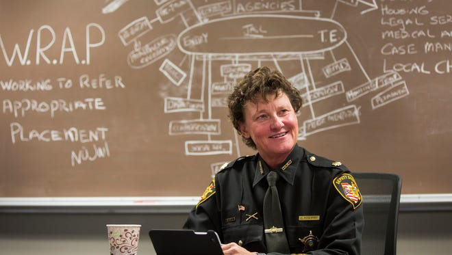 Now former, Major Charmaine McGuffey, Hamilton County Court and Jail Services Division Commander.