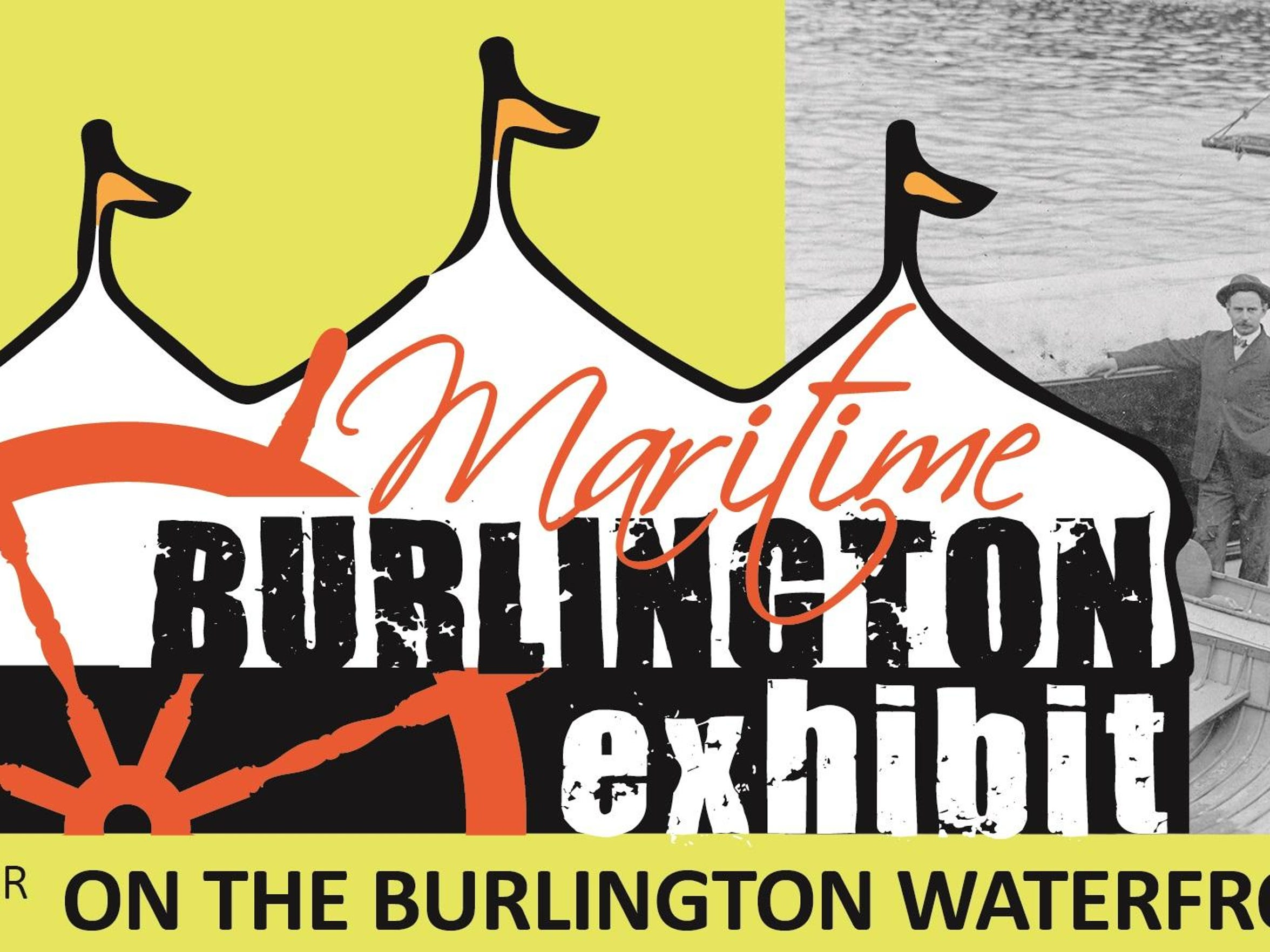 Logo of waterfront exhibit in Burlington.