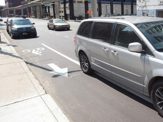 The new bike lanes are confusing to some motorists,