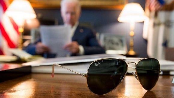 Vice President Biden's first Instagram post.