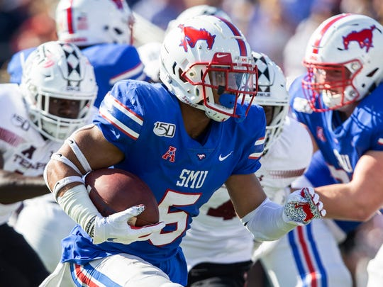 SMU running back Xavier Jones is one of several pieces already in place when Sonny Dykes was named head coach. Jones has rushed for 884 yards and 14 touchdowns this season as the Mustangs are 8-0 and ranked No. 14 in the country.