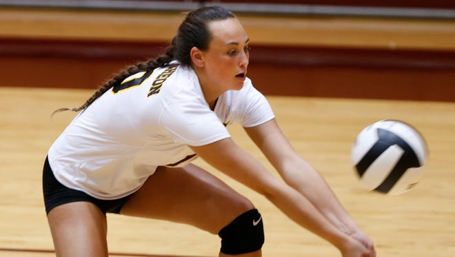 Brooke Humphrey surpassed 1,000 career digs in a win over Clinton Prairie on Wednesday.
