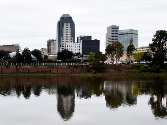 The skyline of Shreveport.