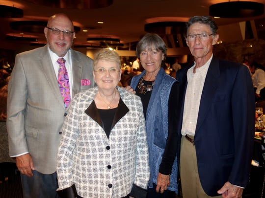 Long-time supporters and patrons Peter and Judi Wasserman and Erika and Michael Swimmer.