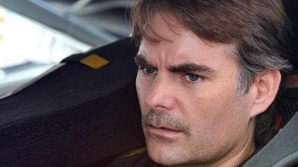 9-18 jeff gordon shaves mustache