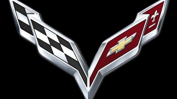 2014 Corvette Crossed Flags logo