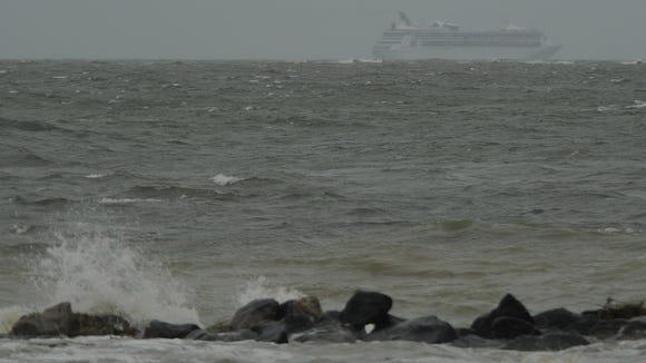 hurricane sandy cruise ship chesapeake