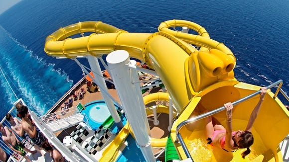 Carnival Sunshine slide