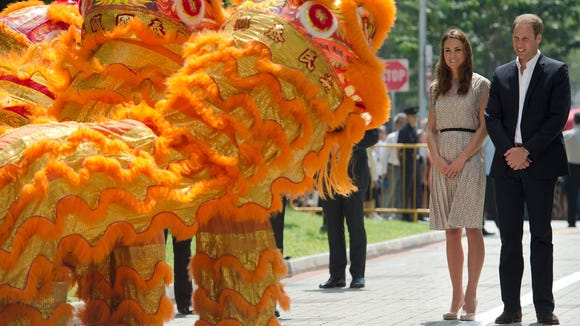 Will and Kate lion dance