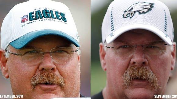 Andy Reid's mustache evolution