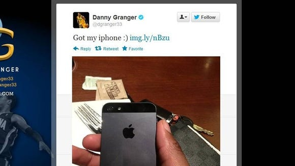 Danny Granger snags iPhone 5 using Twitter