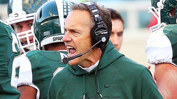 Michigan State Spartans head coach Mark Dantonio