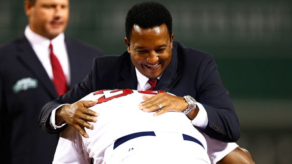 Pedro Martinez and David Ortiz