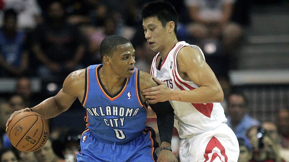 Jeremy Lin and Russell Westbrook