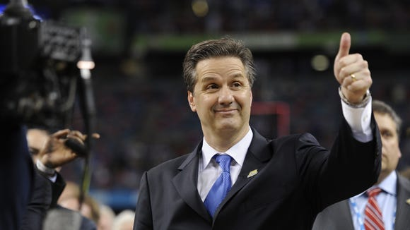 10 12 2012 John Calipari thumbs up