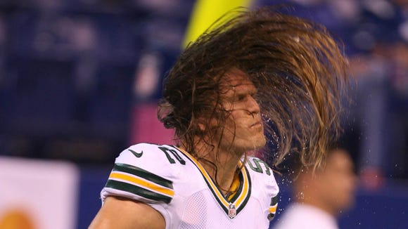 10 19 2012 Clay Matthews wavy hair