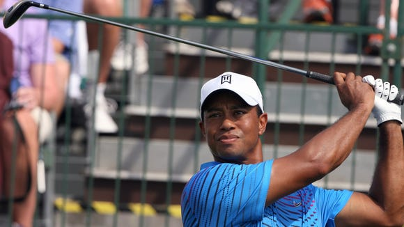 10 24 2012 Tiger Woods blue swing
