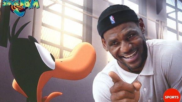 2012-12-05 LeBron Daffy