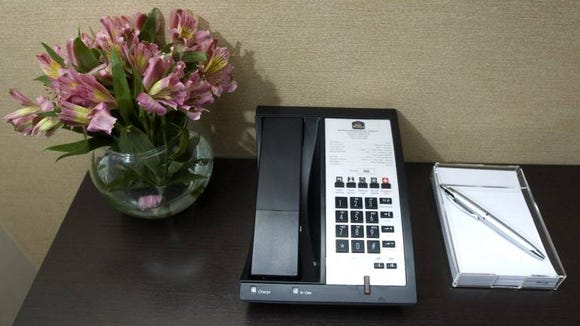 Hotel phone shot