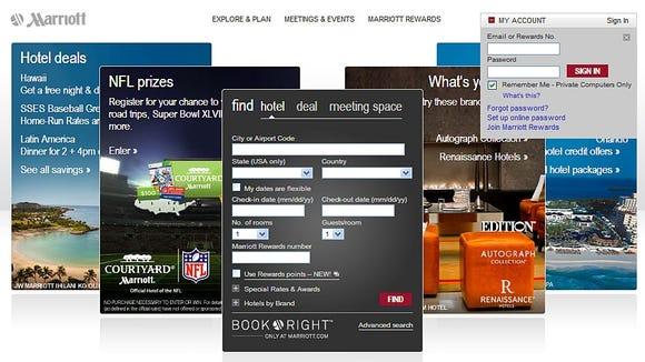 Marriott website