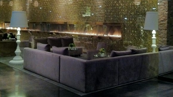 Radisson Blu fireplace