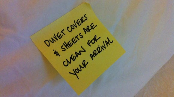 Memo To Guests Your Hotel Duvet Cover Has Been Laundered