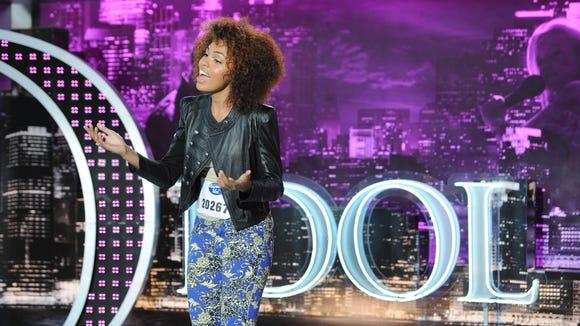 "Kiara Lanier auditions for ""American Idol."""