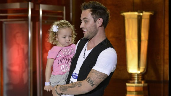 "Matt Farmer auditions for ""American Idol"" with his daughter, Cadence."