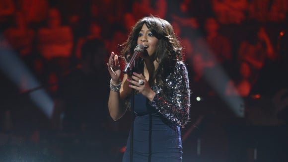 Tenna Torres performs in the Sudden Death Round of AMERICAN IDOL.