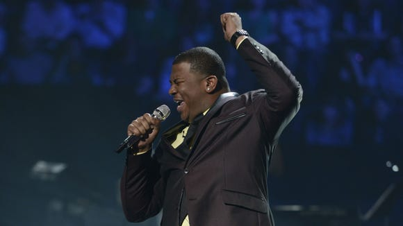 Curtis Finch,  Jr. performs in the Sudden Death Round of AMERICAN IDOL.