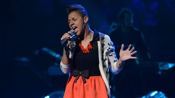 Cristabel Clack in the Sudden Death Round of AMERICAN IDOL.