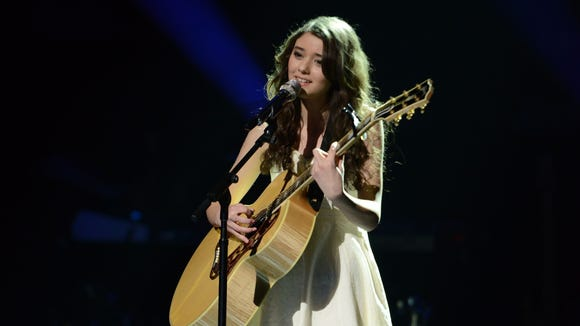 Juliana Chahayed in the Sudden Death Round of AMERICAN IDOL.