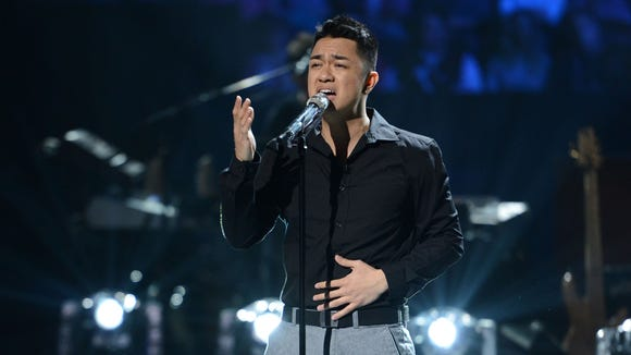 Bryant Tadeo in the Sudden Death Round of AMERICAN IDOL.