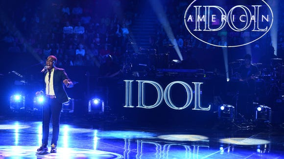 Burnell Taylor in the Sudden Death Round of AMERICAN IDOL.