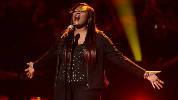 Candice Glover performs in front of the judges on AMERICAN IDOL.