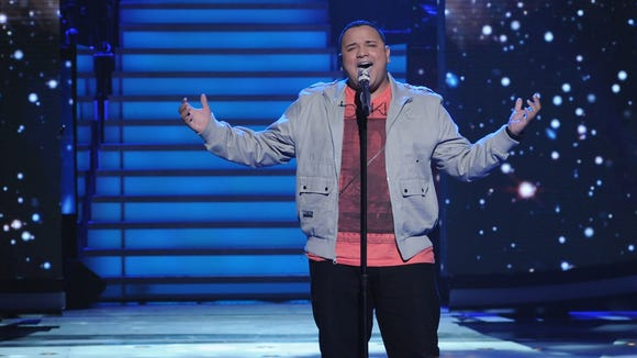 "Jeremy Rosado performs on ""American Idol."""