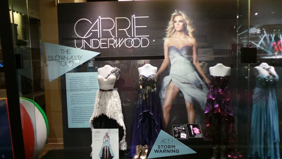 Carrie Underwood: The Blown Away Tour will exhibit at Nashville's Country Music Hall of Fame and Museum through Nov. 10.