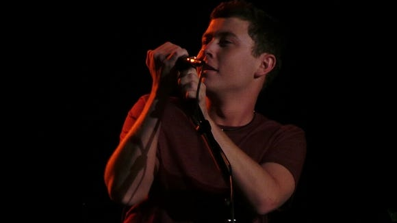 Scotty McCreery sings for fans at Rocketown in Nashville, Tenn.
