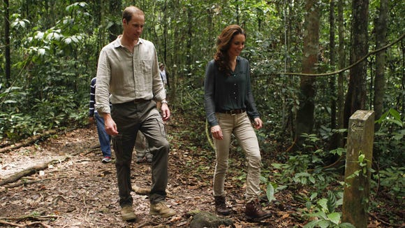 Will and Kate in rainforest