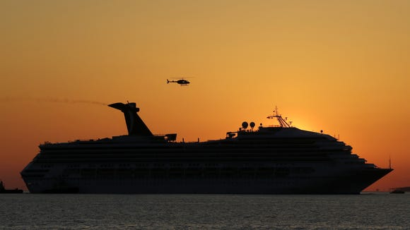 carnival triumph sunset