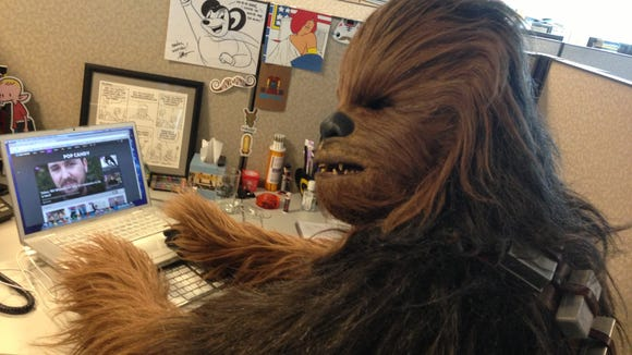 Best Day Ever Chewbacca Visits My Office
