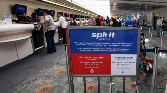 Spirit we hope fliers don 39 t pay our 100 carry on bag fee for Spirit airlines one way