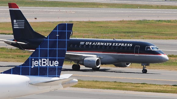 jetblue faces off with us airways in philadelphia. Black Bedroom Furniture Sets. Home Design Ideas
