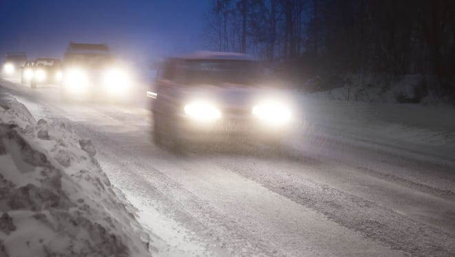 A winter storm is playing havoc with driving conditions across Iowa on Monday, Feb. 8, 2016.