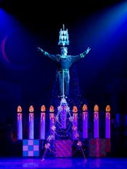 "A giant menorah in ""Cirque Dreams Holidaze"""