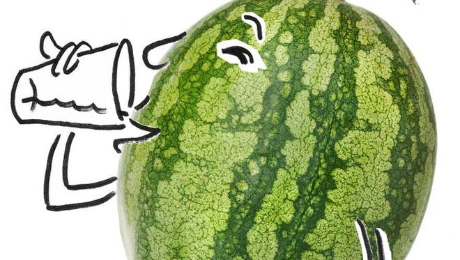 STAY HYDRATED: Drink lots of water and eat water-filled snacks like watermelon, oranges and celery.