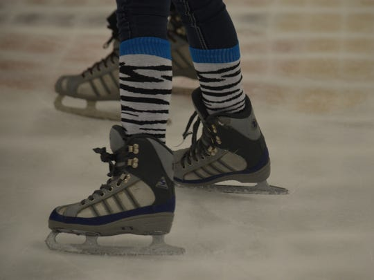 Kids skate at Desert Ice Castle in Cathedral City on July 12, 2014.